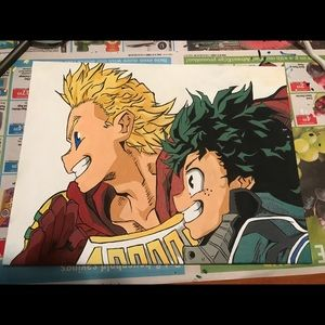 My Hero Academia. Hand drawn/painted canvas